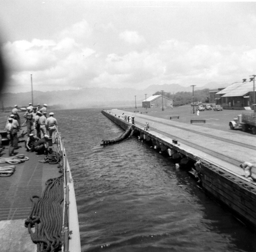 Pier Damage - USS Sproston