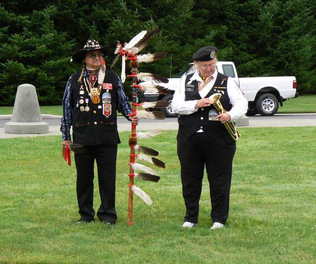 Native American Honor Guard Tahoma National Cemetary