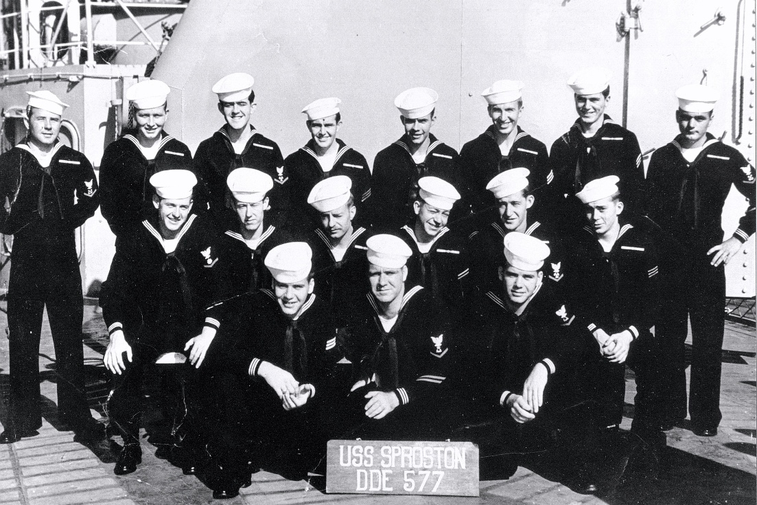 All the Brothers aboard the USS Sproston - 1953