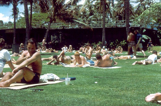 Fort DeRussy, Waikiki Beach, Hawaii - 1967