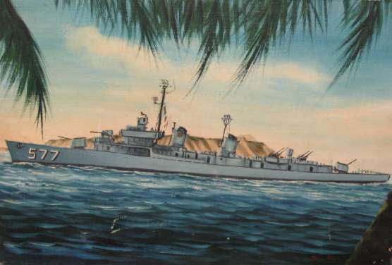 Painting of the USS Sproston