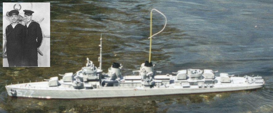 Remote controlled model of WWII USS Sproston